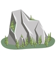 Isometric Mountain landscape vector image vector image