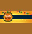 latin american festa junina celebration banner vector image vector image