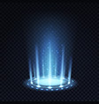 magic portal realistic light effect with blue vector image vector image