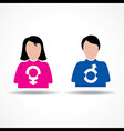 Male Female icon having their symbol stock vector image vector image