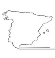 map of spain continous line vector image vector image