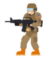 military man american armed force wearing army vector image