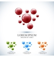 Modern set logotype icon dna and molecule vector image vector image