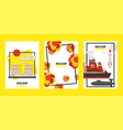 nuclear energy set cards poster vector image