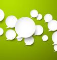 Paper white speech bubbles vector image vector image