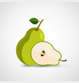 pear modern icon vector image vector image
