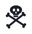 pirate skull isolated icon vector image vector image