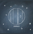 planet uranus icon on chalkboard vector image vector image