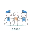 Police holding the offender vector image vector image