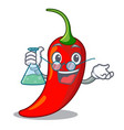 professor character red chili pepper for seasoning vector image vector image
