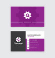 purple color modern business card design vector image