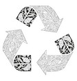recycle icon for coloring vector image vector image