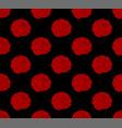 red ranunculus on black background vector image vector image