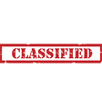 Red stamp classified vector image