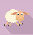 running sheep icon flat style vector image vector image