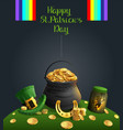 saint patrick day poster accessory and text vector image