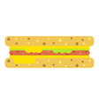 sandwich icon flat style vector image