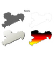 Saxony blank outline map set vector image vector image