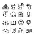 school icon set thin line icon vector image vector image