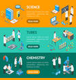 science chemical pharmaceutical 3d banner vector image vector image