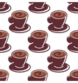 Seamless pattern of cups of hot cappuccino vector image vector image