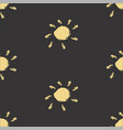 seamless pattern with hand drawn suns vector image