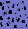 seamless pattern with silhouettes on a theme of vector image
