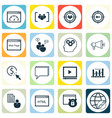 set of 16 seo icons includes focus group video vector image