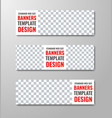 set of white web banners with place for photo and vector image vector image