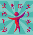 silhouette abstract people performance character vector image vector image