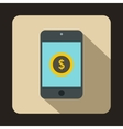 Smartphone with dollar sign on display icon vector image vector image