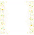 snow white agapanthus banner card border vector image vector image