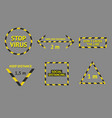 social distancing banner collection barricade vector image