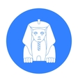 Sphinx icon in black style isolated on white vector image