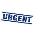 square grunge blue urgent stamp vector image vector image
