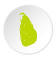 sri lanka green map icon circle vector image vector image
