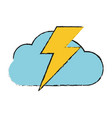 storm electric cloud vector image vector image