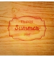 Summer label over wooden background vector image vector image