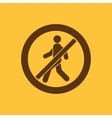 The no entry icon Disallowed and danger warning vector image