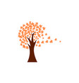 tree fall icon design template isolated vector image vector image