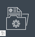 virus information related thin line icon vector image
