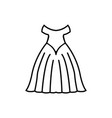weddign dress icon design template isolated vector image vector image