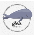 Whale icon Sea life design graphic vector image vector image