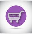 Shopping cart trolley flat icon vector image