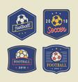 football logo template set vector image