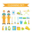 set of icons for cleaning tools house cleaning vector image