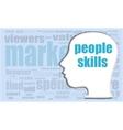 people skills head profile icon woman vector image