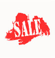 sale icon on red and white background vector image