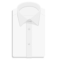 White folded shirt vector image