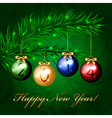 2014 - christmas tree with colorful decorations vector image